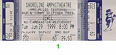 Jewel 1990s Ticket