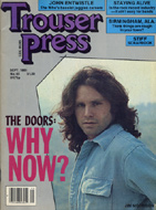 Jim Morrison Trouser Press Magazine