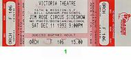 Jim Rose Circus Side Show 1990s Ticket