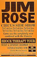Jim Rose Circus Side Show Poster