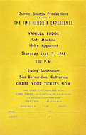 Vanilla Fudge Handbill