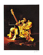 Jimi Hendrix Premium Vintage Print