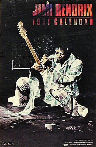 Jimi Hendrix Wall Calendar