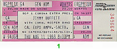 Jimmy Buffett1980s Ticket
