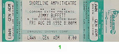 Jimmy Buffett 1990s Ticket