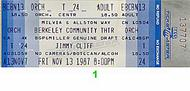 Jimmy Cliff 1980s Ticket