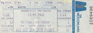 Jimmy Page 1980s Ticket