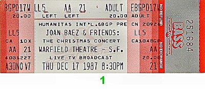 Joan Baez1980s Ticket