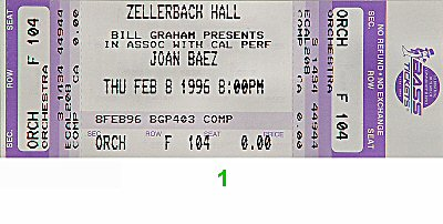 Joan Baez 1990s Ticket