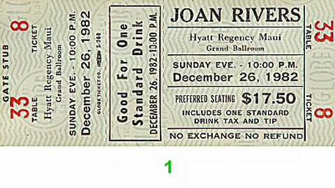 Joan Rivers1980s Ticket