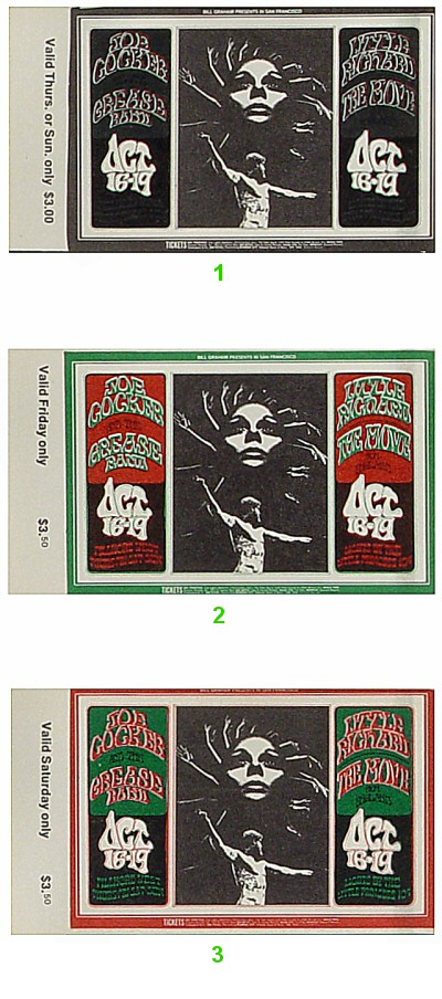 Joe Cocker & The Grease Band1960s Ticket