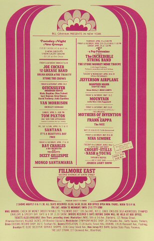 Joe Cocker & The Grease Band Handbill