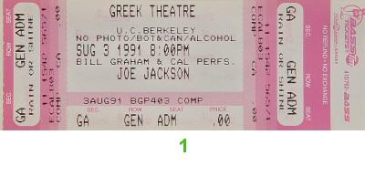 Joe Jackson1990s Ticket