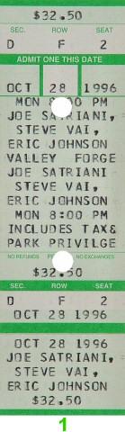 Joe Satriani1990s Ticket