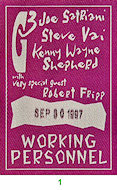 Robert Fripp Backstage Pass