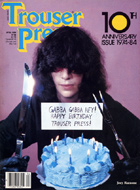 Joey Ramone Trouser Press Magazine