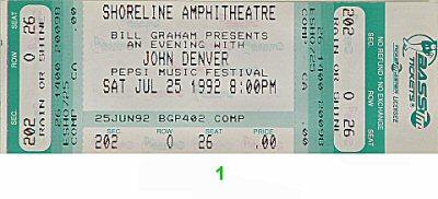John Denver1990s Ticket