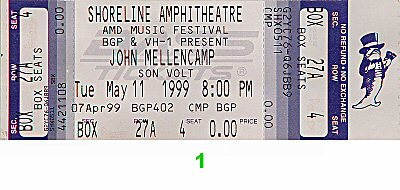 John Mellencamp 1990s Ticket