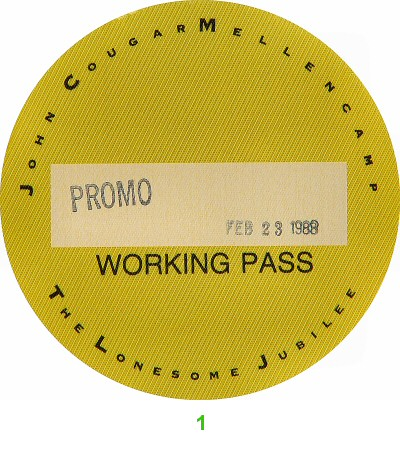 John MellencampBackstage Pass