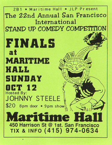 Johnny Steele Handbill