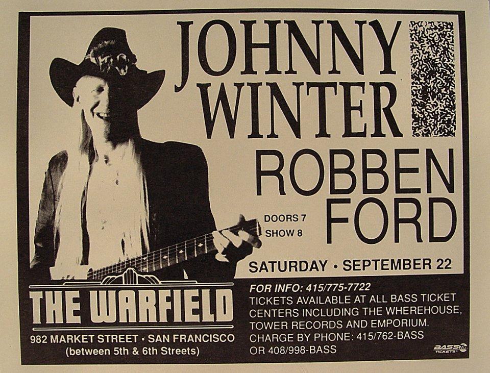 Johnny Winter Handbill