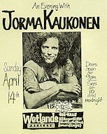 Jorma Kaukonen Handbill