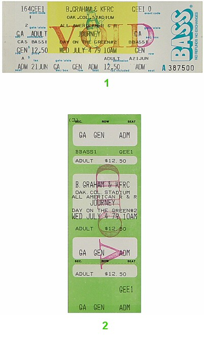 Journey 1970s Ticket