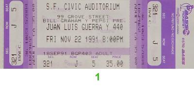 Juan Luis Guerra Y 4.401990s Ticket