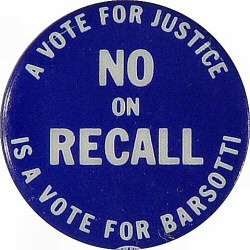 Judge Barsotti Recall Vintage Pin
