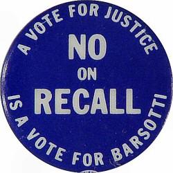 Judge Barsotti RecallVintage Pin