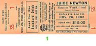 Juice Newton 1980s Ticket