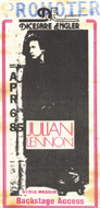 Julian Lennon Backstage Pass