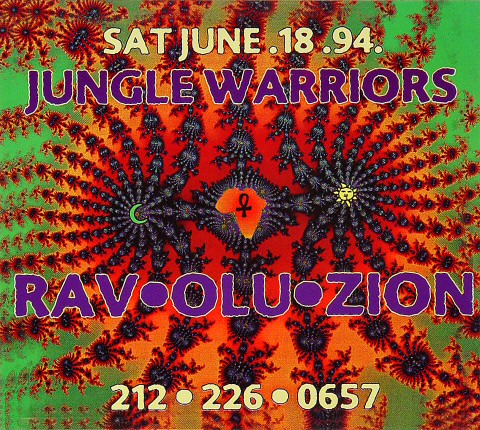 Jungle Warriors Ravoluzion Handbill