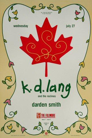 k.d. lang &amp; the re-clines Poster