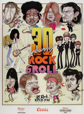 K-POI: 30 Years of Rock and Roll Poster