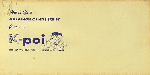 K-POI Marathon of Hits Script Program