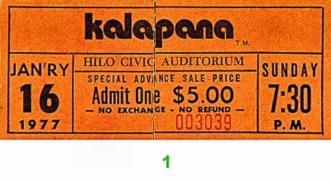 Kalapana1970s Ticket