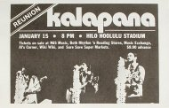 Kalapana Handbill