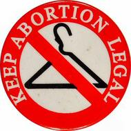 Keep Abortion Legal Vintage Pin