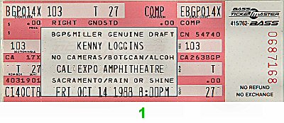 Kenny Loggins1980s Ticket