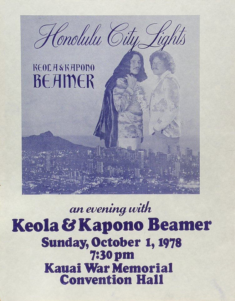 Keola and Kapono Beamer Poster