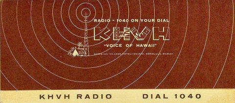 KHVH Radio Dial 1040 Program