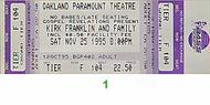 Kirk Franklin and Family 1990s Ticket