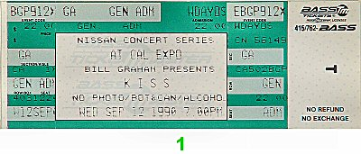 Kiss 1990s Ticket