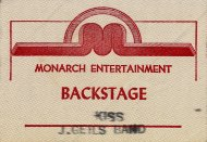 J. Geils Band Backstage Pass