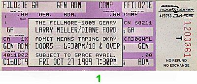 Larry Miller1980s Ticket