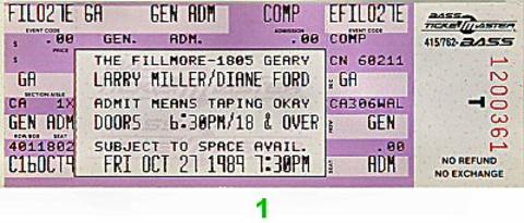 Larry Miller Vintage Ticket