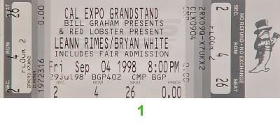 Leann Rimes1990s Ticket