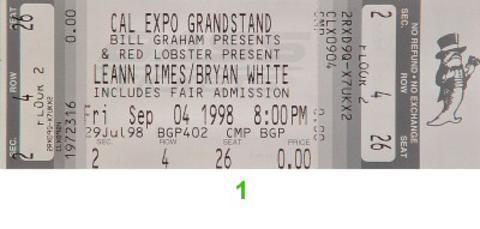 Leann Rimes Vintage Ticket