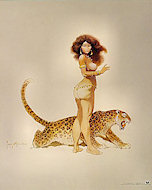 Leopard Girl Poster